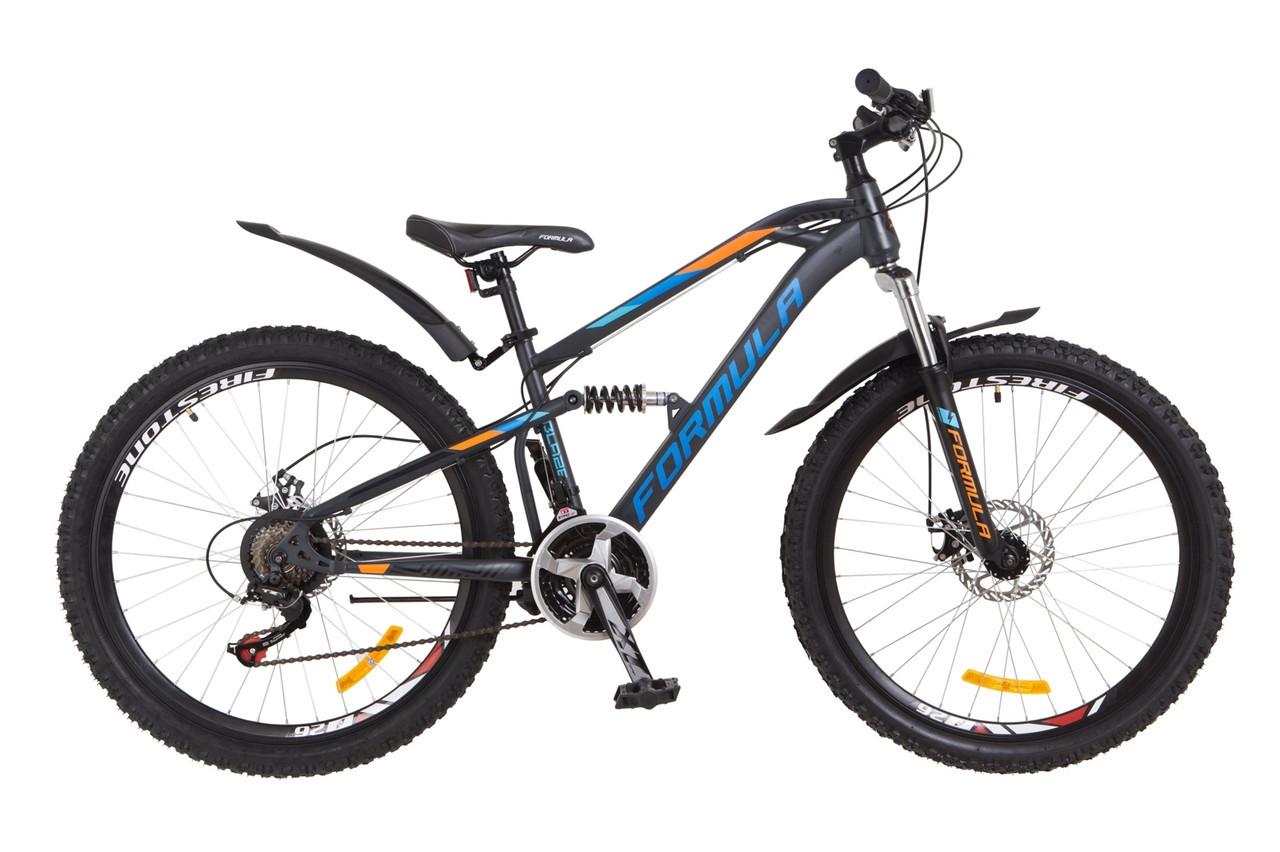 """Велосипед Formula BLAZE  26"""" АМ2  Серо-синий"""