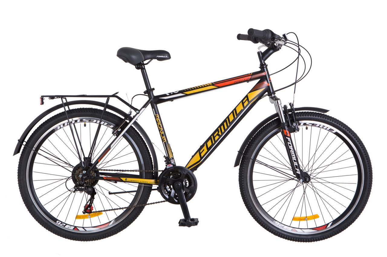 """Велосипед  Formula MAGNUM 26"""" Черно-оранжевый"""