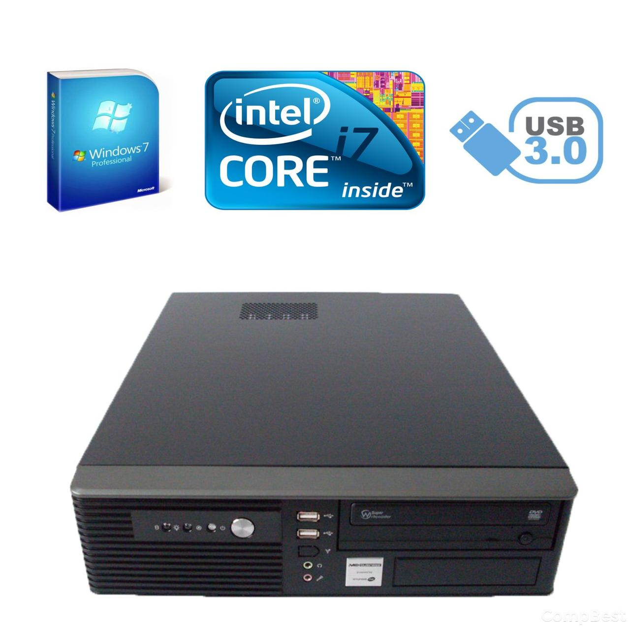 MSI SFF / Intel Core i7-2600 (4(8) ядер по 3.4-3.8GHz) / 4 GB DDR3 / 500 GB HDD / DVD привод / USB 3.0, SATA 3.0, PCI Express 3.0