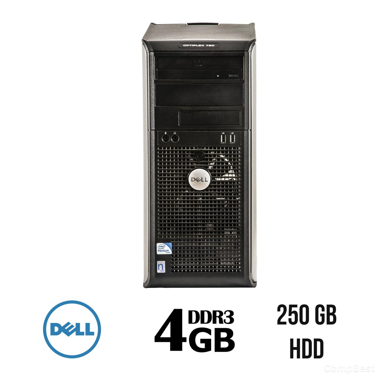 Dell 780 Tower / Intel Core 2 Duo E7500 (2 ядра по 2.93 GHz) / 4 GB DDR3 / 250 GB HDD