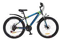 """Велосипед Discovery TREK DD 26"""" Черно-сине-зеленый, 18"""", фото 1"""
