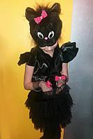 """Карнавальный костюм для девочки  """"Черная кошечка""""."""