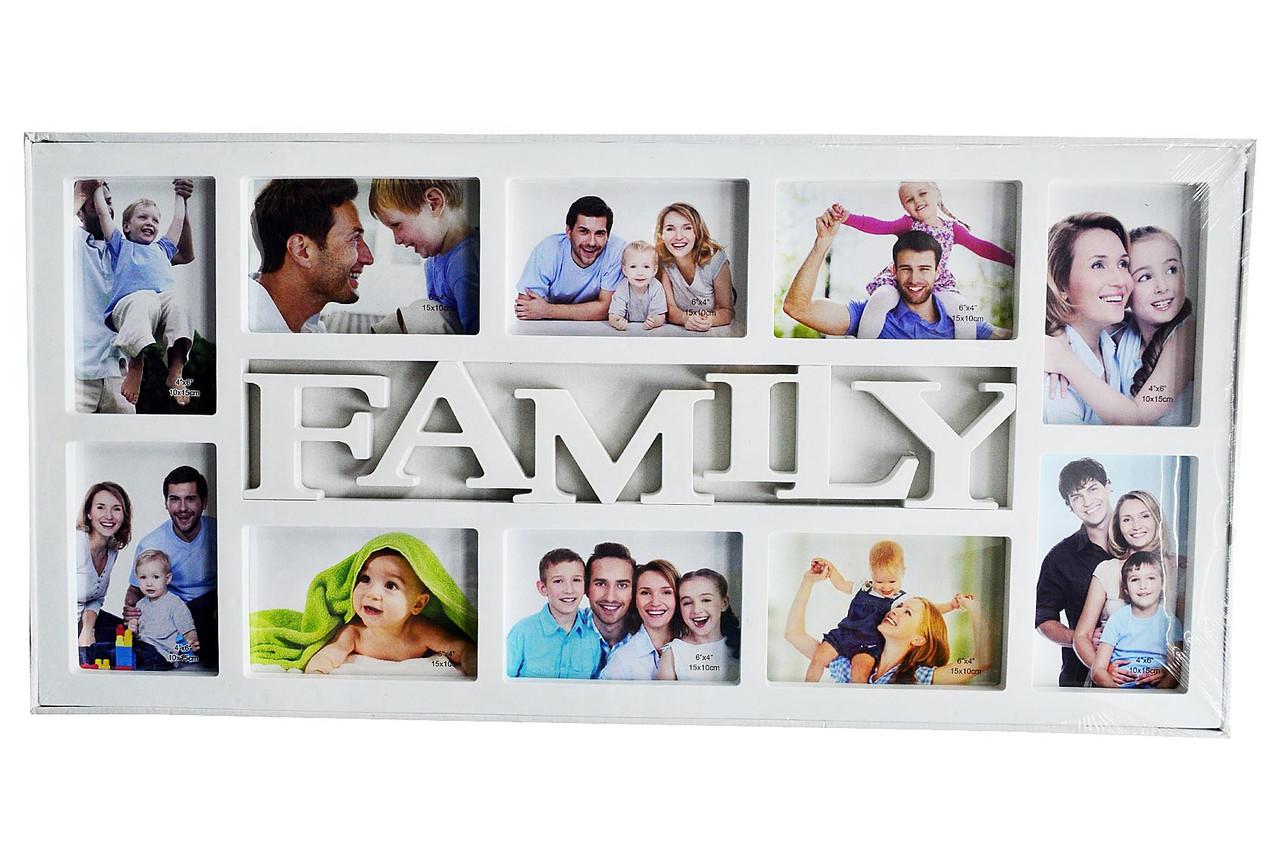 """Мультирамка """"FAMILY"""" — Фоторамка колаж на стіну"""