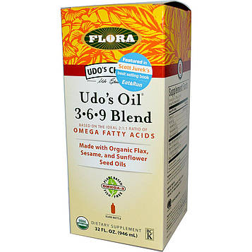 Flora, Udos Choice, Udos Oil 3·6·9 Blend, 32 жидких унций (946 мл)