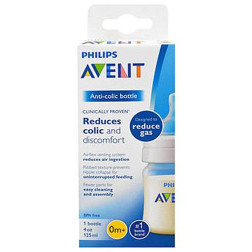 Philips Avent, Антиколиковая бутылочка, от 0 месяцев, 1 бутылочка, 4 унции (125 мл)