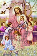 Схема для вышивки бисером «Иисус и дети»