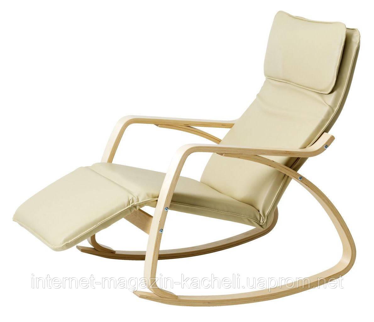 Кресло качалка с подставкой для ног
