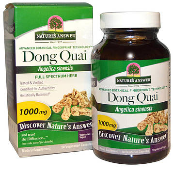 Natures Answer, Дудник китайский, 1000 мг, 90 растительных капсул