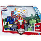 Трансформеры боты Playskool Heroes Transformers Rescue Bots Griffin Rock Rescue Team, фото 2