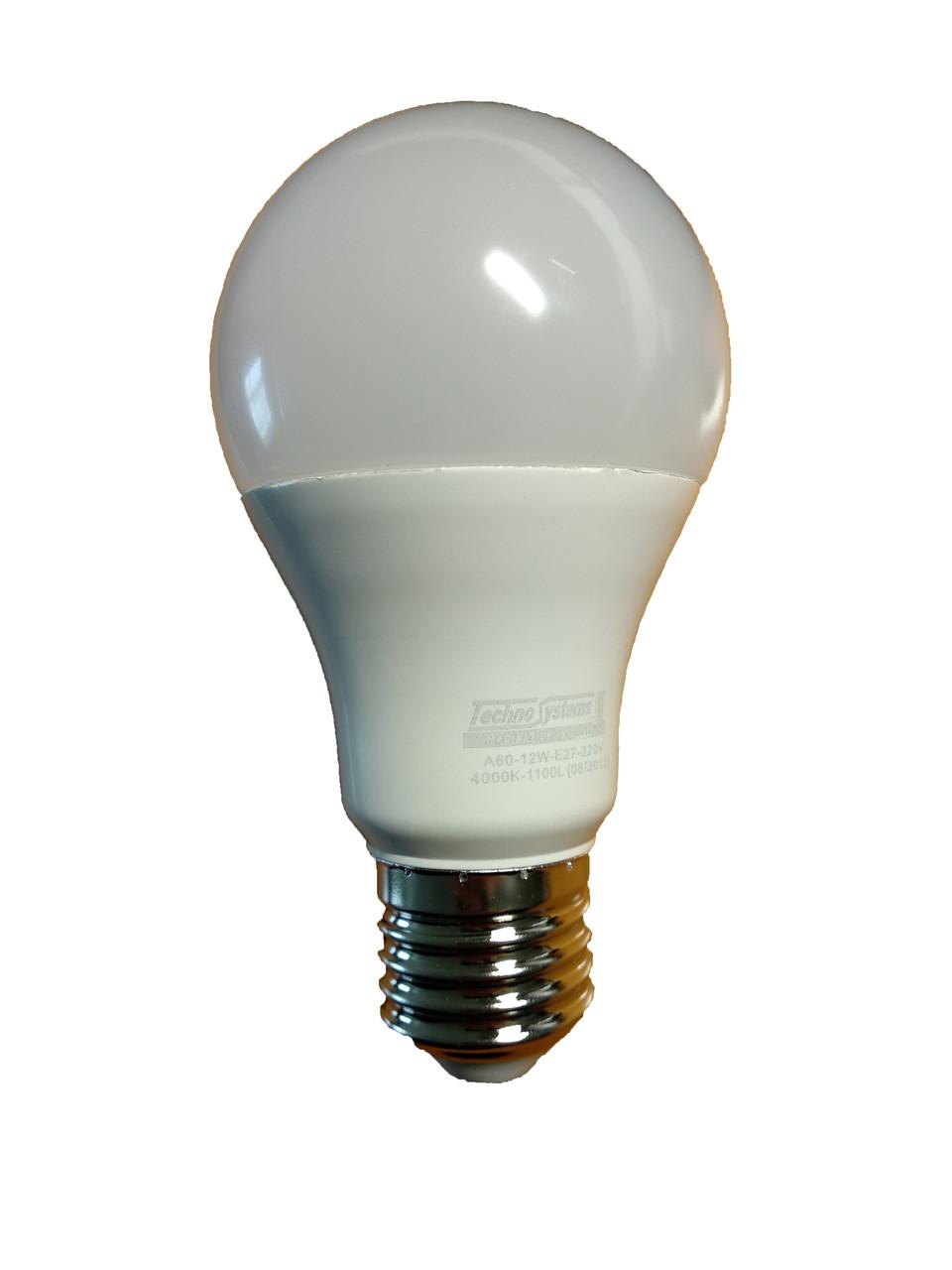 Лампа светодиодная LED TNSy Bulb A60 12W E27 220V 4000K 1100L ICCD (шар)