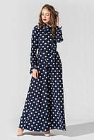 Платье Tess Dress Лея 1591 46 ukr Темно-синее в белый горох (2946890085292), фото 1