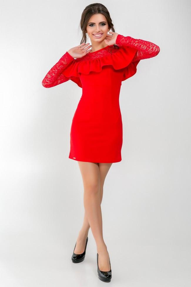 Платье Azuri 5388-13 L Красное (2000000055619)