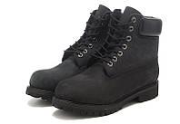 БОТИНКИ МУЖСКИЕ TIMBERLAND CLASSIC 6 INCH BLACK BOOTS (Тимберленд) черные с мехом
