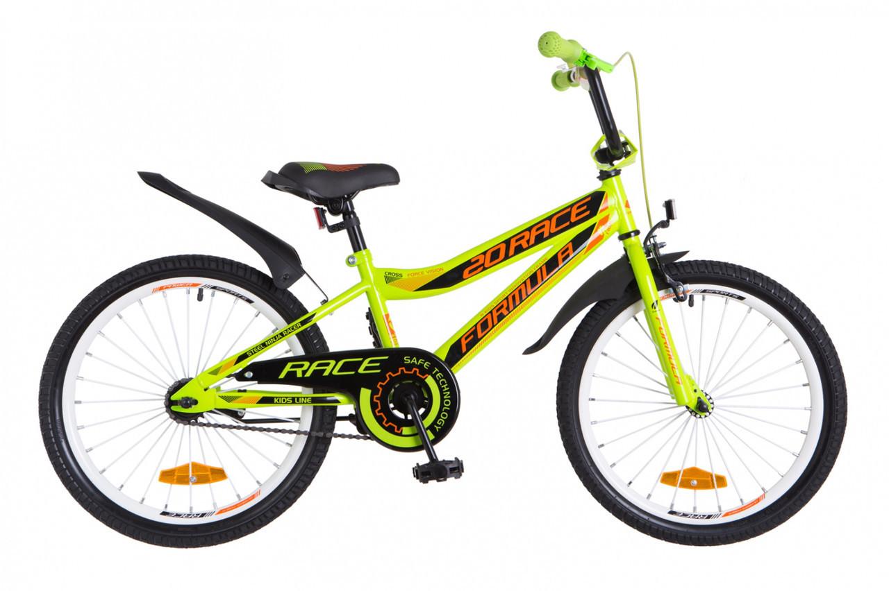 """Велосипед Formula RACE  20""""   зелено-оранжевый"""