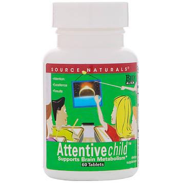 Source Naturals, Внимательный ребенок, 60 таблеток