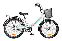 """Велосипед Formula SMART 24"""" с корзиной  Бело-зеленый"""