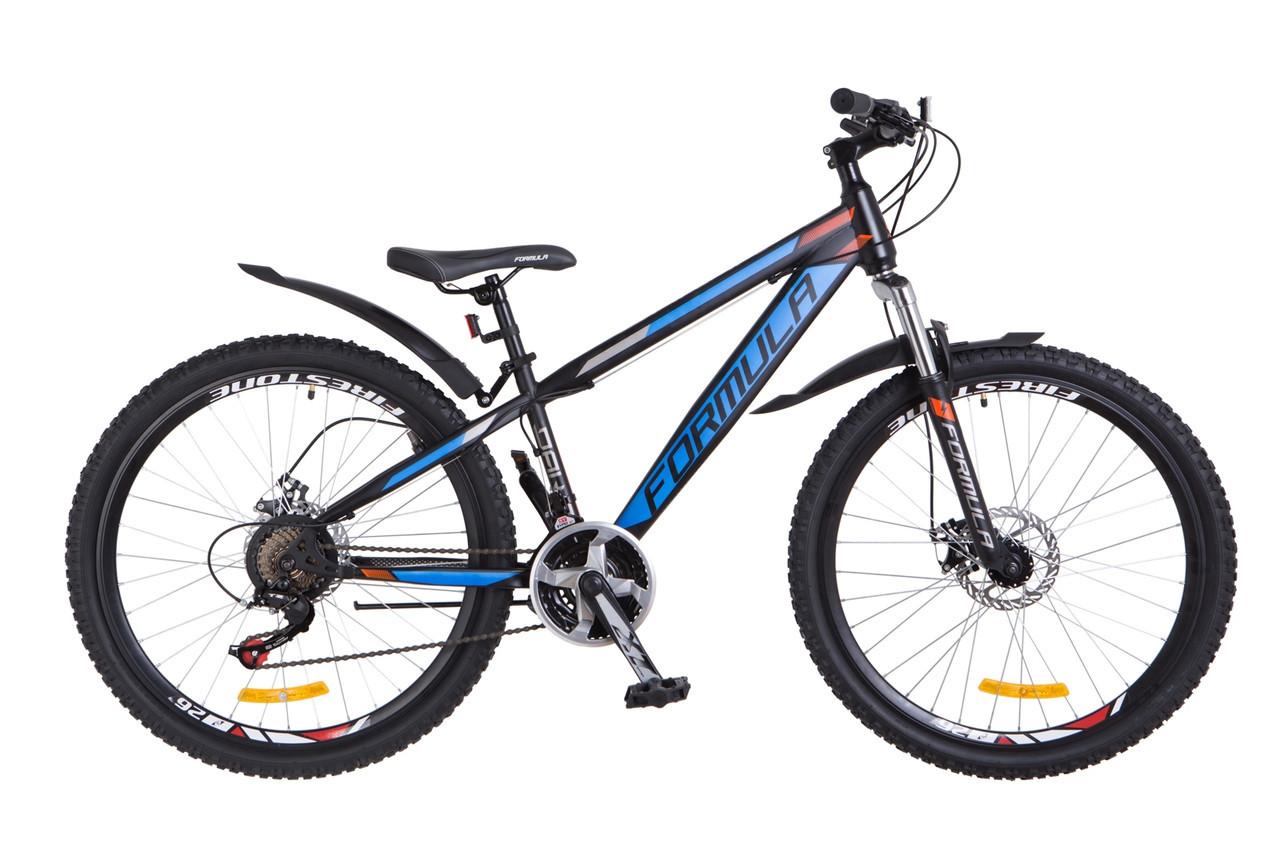 """Велосипед Formula DAKAR DD  26"""" Черно-синий"""