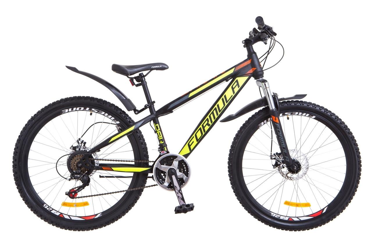 """Велосипед Formula DAKAR DD  26"""" Черно-желтый"""