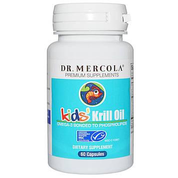 Dr. Mercola, масло криля для детей, 60 капсул