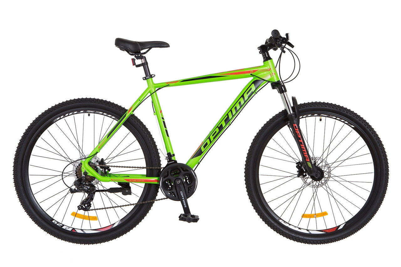 "Велосипед Optimabikes F-1 HDD 29"" черно-салатный"