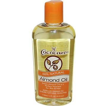Cococare, 100% Натуральное Миндальное Масло, 4 жидких унции (118 мл)