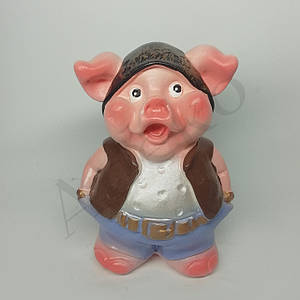 Копилка свинка бандит 11 см
