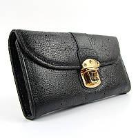 Черный кожаный кошелек женский Louis Vuitton, фото 1