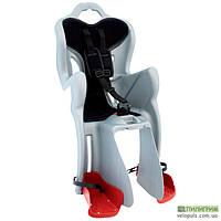 Детское велокресло Bellelli B-One Сlamp на багажник Серебристо-черный