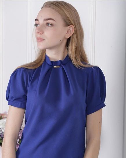"Женская блузка ""Агата"" - распродажа модели электрик, 48"