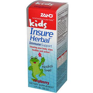 Zand, Растительная иммунная поддержка для детей, со вкусом малины, 1 жидкая унция (30 мл)