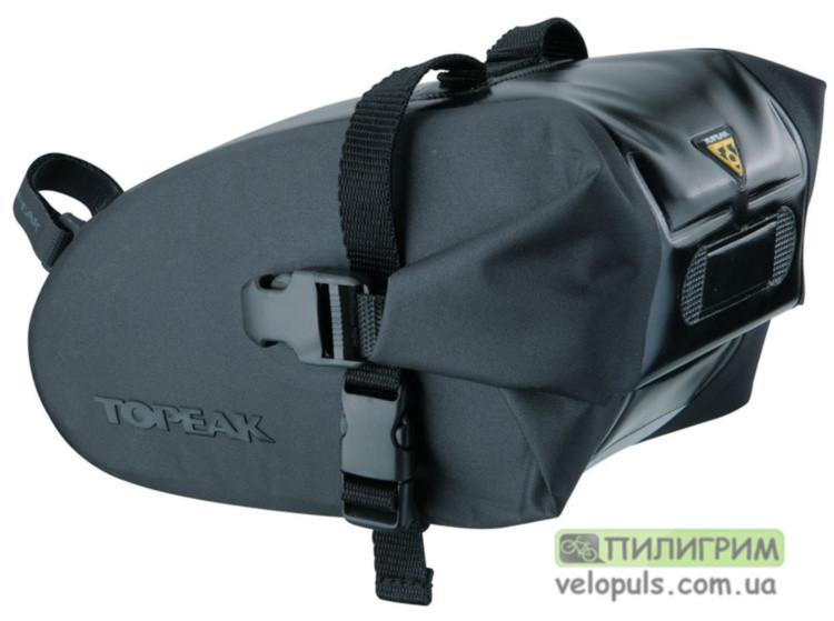 Сумка подседельная Topeak Wedge DryBag TT9819B M серая (1 L 18.5 x 11.5 x 11 cm)