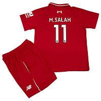 Футбольная форма для детей ФК Ливерпуль M.SALAH сезон 2018-2019г 7cc875c6020