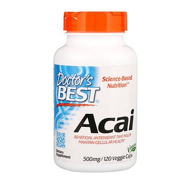 Doctors Best, Асаи, 500 мг, 120 капсул в растительной оболочке
