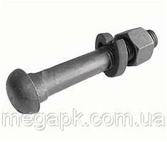 Болт шляховий М27х160 (для рейкових стиків) ГОСТ 11530-93