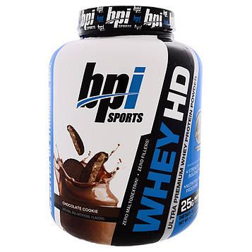 BPI Sports, Сыворотка HD, Ultra Premium Порошок Сывороточного Протеина, Шоколадное печенье, 4,2 фунта (1900 г)