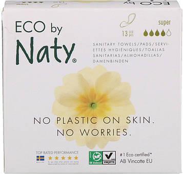 Naty, Тонкие прокладки, супер, 13 экологичных прокладок