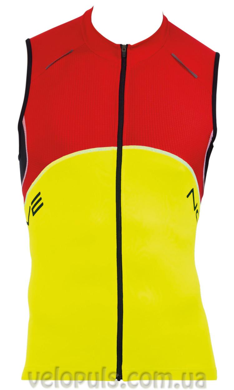 Веломайка - Northwave Blade Jersey yellow/red/black sleeveless S