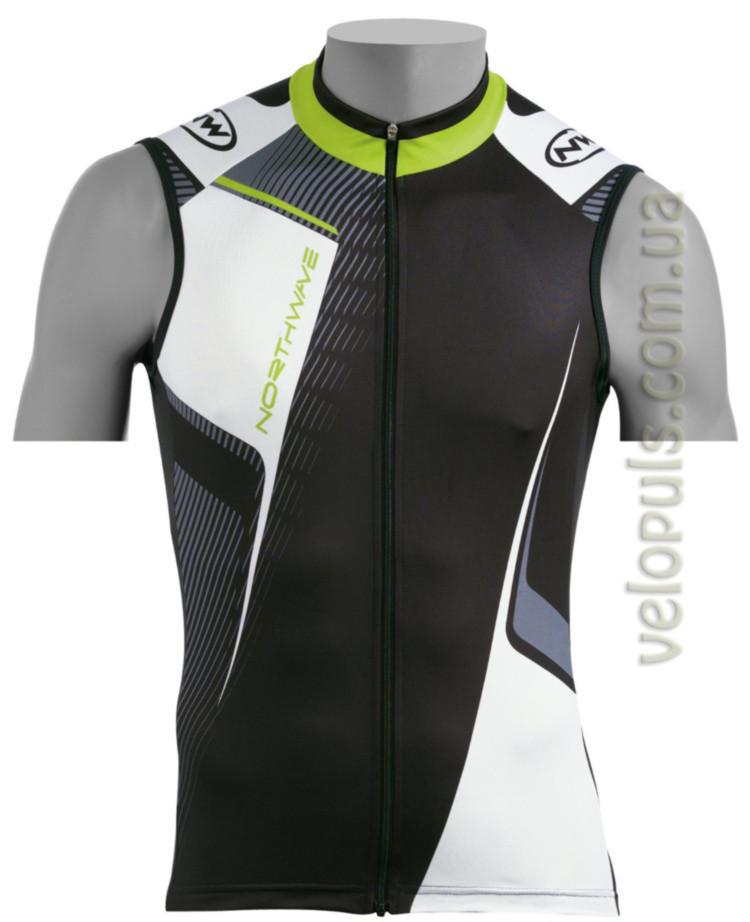 Веломайка - Northwave Volata jersey black Sleeveless S