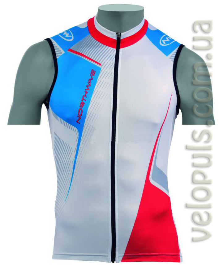 Веломайка - Northwave Volata jersey White Sleeveless 2XL