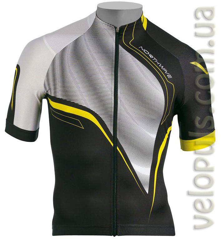 Веломайка - Northwave Typhoon jersey black/white short sleeve M