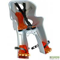 Детское велокресло Bellelli Rabbit handlefix на раму спереди Серебристый