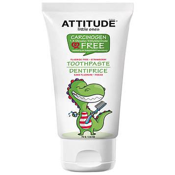 ATTITUDE, Little Ones, Зубная паста, Без фтора, Клубника, 2,6 унц. (75 г)