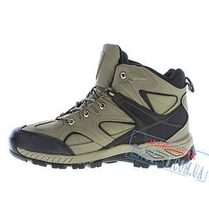 Черные высокие кроссовки из натуральной кожи Bona BA-28, хаки, на меху, фото 2