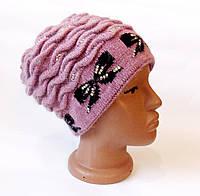 Стильная женская зимняя шапка.