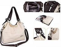 Женская стильная сумка WeidiPolo, бежевый, Качественная реплика , фото 1