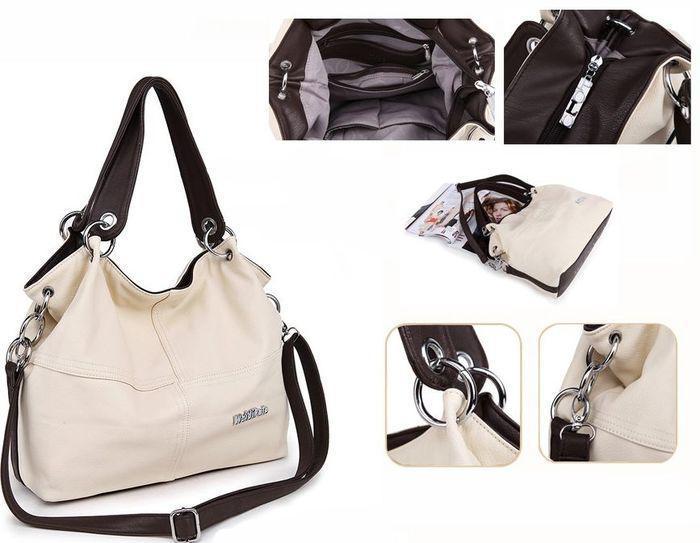 Женская стильная сумка WeidiPolo, бежевый, Качественная реплика