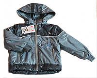 """Куртка детская весенняя  """"Машинка"""" Серый р.80,86,92,98."""
