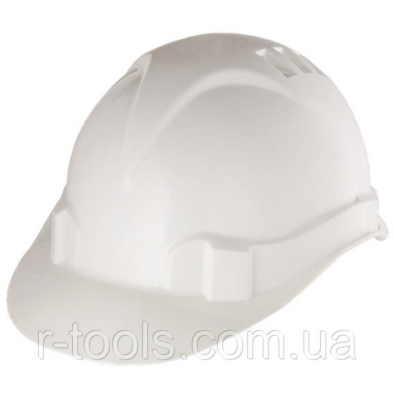 Каска захисна з ударопрочной пластмаси біла Сибртех 89114