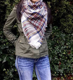 Молодежный шарф-плед ( теплый шарфик )