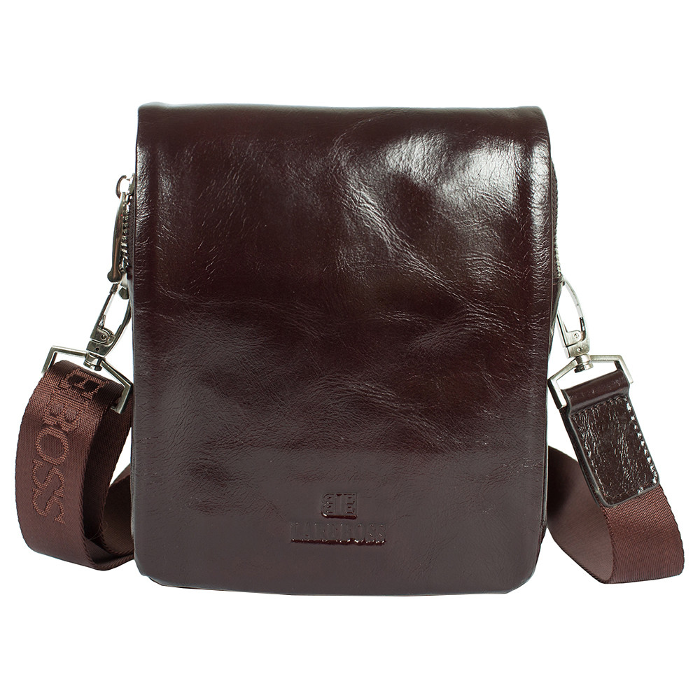 9355c47cb7bfaf Мужская кожаная сумка Lare Boss 4704-6-205b темно-коричневая (19.5 ...